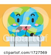 Poster, Art Print Of Mascot Earth Press Conference Illustration