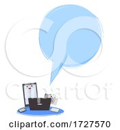 Mascot Gadget Vlogger Speech Bubble Illustration