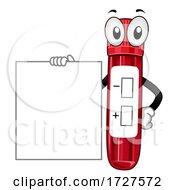 Mascot Test Tube Board Illustration