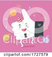 Mascot Thumbs Up Celebrate Illustration