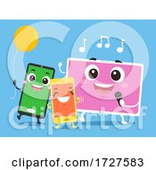 Mascot Mobile Party Games Illustration