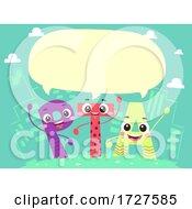 Mascot PTA Speech Bubble Illustration