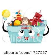 Mascot Storage Bin Toys Organize Illustration