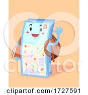 Mascot Campus Map Backpack Illustration