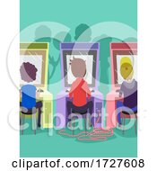 Poster, Art Print Of Men Arcade Tickets Illustration