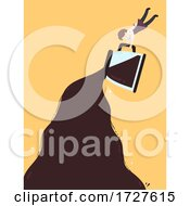 Poster, Art Print Of Man Pour Coffee Background Illustration
