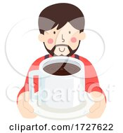 Poster, Art Print Of Man Give Coffee Illustration