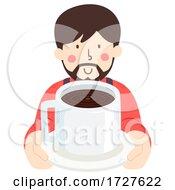 Man Give Coffee Illustration