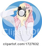 Man Camera Photography Middle East Illustration