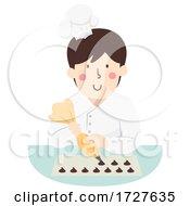 Man Chocolatier Illustration