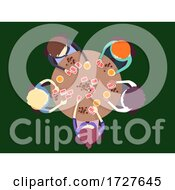 Poster, Art Print Of People Man Top View Gambling Cards Illustration