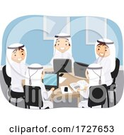 Poster, Art Print Of Guy Teens Stickman Qatar Group Study Illustration