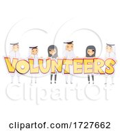 Stickman People Arab Volunteer Illustration