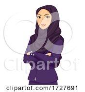 Girl Office Attire Woman Qatar Illustration