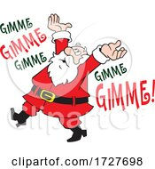 Cartoon Christmas Santa Claus Complaining