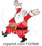 Cartoon Frustrated Christmas Santa Claus