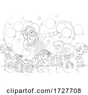 Christmas Santa Claus Giving Gifts To Children