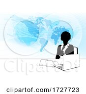 News Anchor Silhouette TV Reporter Presenter by AtStockIllustration