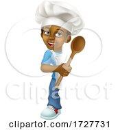 Black Boy Cartoon Child Chef Kid Sign