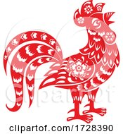 Poster, Art Print Of Chinese Horoscope Zodiac Rooster