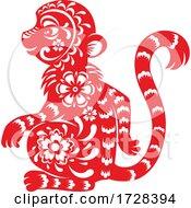 Poster, Art Print Of Chinese Horoscope Zodiac Monkey