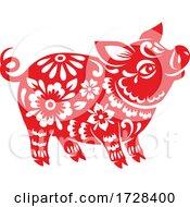 Poster, Art Print Of Chinese Horoscope Zodiac Pig