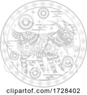 Chinese Horoscope Zodiac Goat by Vector Tradition SM