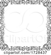 Filigree Heraldry Leaf Pattern Floral Border Frame