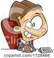 Poster, Art Print Of Cartoon Boy Being A Boss