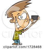 Cartoon Boy Taking Pics With His Phone