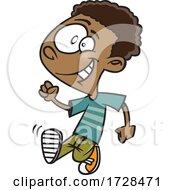 Poster, Art Print Of Cartoon Boy Strutting