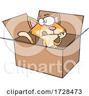 Cartoon Schrodingers Cat In A Box
