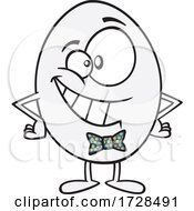 Cartoon Happy Egg Wearing A Bowtie