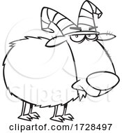 Cartoon Lineart Big Gruff