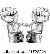 Poster, Art Print Of Business Suit Hands Chained Vintage Style Concept
