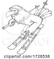 Skiing Hawk