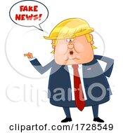 Donald Trump Exclaiming Fake News