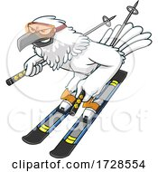 Skiing Hawk by Hit Toon