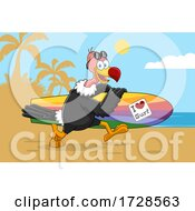 Surfer Vulture by Hit Toon #COLLC1728563-0037
