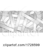 Monotone Abstract Banner Design