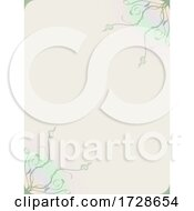 Copy Space Blank Floral Paper Sheet