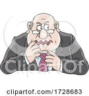Poster, Art Print Of Cartoon Fat Politician Or Business Man