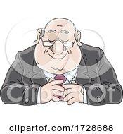 Cartoon Fat Politician Or Business Man