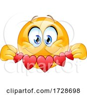 Poster, Art Print Of Smiley Emoji With Hearts