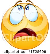 Poster, Art Print Of Smiley Emoji With An Overwhelmed Expression