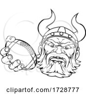Poster, Art Print Of Viking American Football Sports Mascot Cartoon
