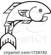 A Fish Sign Label Icon Concept Design
