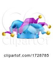 Poster, Art Print Of Court Jester Carnival Joker Clown Costume Fool Hat