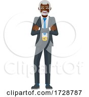 Mature Black Business Man Mascot Concept