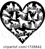 German Shepard Alsatian Dog Heart Concept